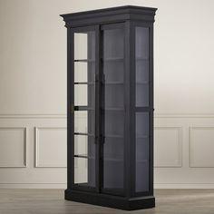 Large Black Rubbed Hamilton Curio Cabinet | World Market | Dining ...
