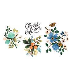 Lovely Floral Tattoos - Set of 8