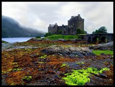 This is one of the many typically Castles of Scotland: Eilean Donan. You can see it on the way from Glasgow to Isle of Skye on the left side of the road...