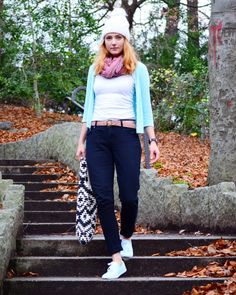 Almost Stylish: Black Denims and Pastel Colours