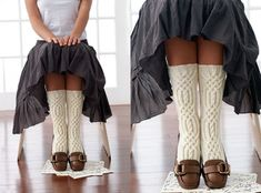 """Knitting Celtic Cable Detailed Mid Calf Socks Homesteading - The Homestead Survival .Com """"Please Share This Pin"""" Loom Knitting, Knitting Socks, Knitting Patterns, Knitting Ideas, Learn To Crochet, Knit Crochet, Cable Knit Socks, Celtic Patterns, Calf Socks"""