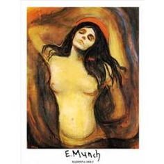 Madonna by Edvard Munch. madonna is the madonna of sensual pleasure rather than the chosen to bare christ. Much like the earlier Femme Fatal, a creature of sex and death. Edward Munch, Moritz Von Schwind, La Madone, Madonna Art, Amedeo Modigliani, Oeuvre D'art, Matisse, Art History, Painting & Drawing