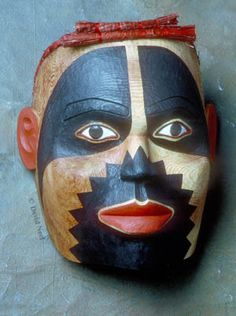 Portrait mask of Native Indian master artist, Mungo Martin, by David Neel