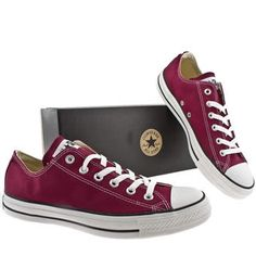 Converse Burgundy Ox Canvas give your casual suit a bit of flare  doctor who style with these beauties