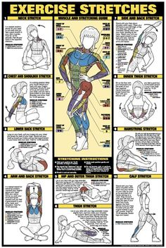Great chart that shows how different stretches benefit different muscles.