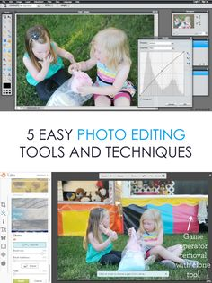 Simple Photo Editing Tools And Techniques *I never realized there are so many free tools on the web. Saving this for later...