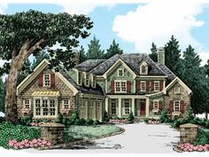 Traditional House Plan with 3467 Square Feet and 4 Bedrooms from Dream Home Source | House Plan Code DHSW50605