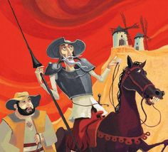 "@TweetPalla an illustration abou ""Don Chisciotte della Manca"""