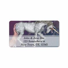 SOLD! #Unicorn Personalized Address Label $3.50