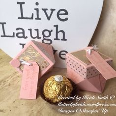 Lidded diamond box for Ferrero Friday stampin up UK Demonstrator Heidi Smith Flutterbyheidi