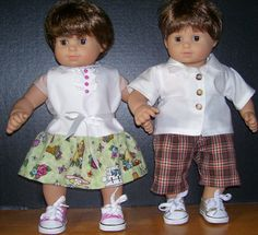 Twin Summer Outfits /sneakers..free shipping by DressAlike on Etsy