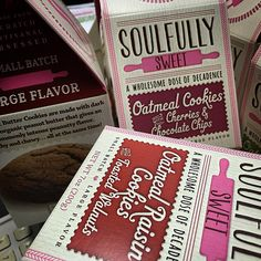 New #branding and #packaging for Soulfully Sweet #letterpress #lettering #typography #design #gourmet #foodie #risingabovethenoise