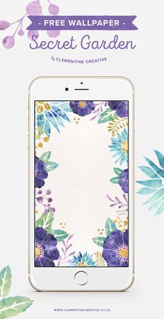 Dress up your phone with this free floral wallpaper! Downlaod here