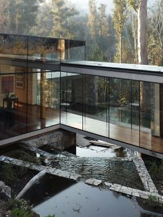 A modernistic house in Chile~ OK, now we're talking, this just might be perfect! I love that it is built to last above the water, Its amazing :)
