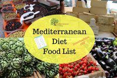 Do you want to eat the Mediterranean diet? This Mediterranean diet food list comprises over 100 of the most common foods in the Mediterranean diet. Diet Desserts, Diet Snacks, Healthy Vegan Snacks, Paleo Diet, Paleo Vegan, Paleo Food, Mediterranean Diet Food List, Reading Food Labels, Paleo For Beginners