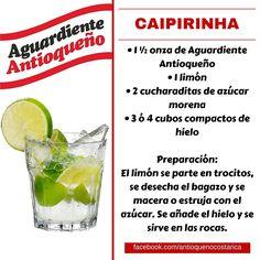 ¡Aguardiente Antioqueño combina con todo! #Aguardiente #Antioqueño #Coctel #Cocktail #Caipirinha Non Alcoholic Drinks, Cocktail Drinks, Cocktail Recipes, Beverages, Mojito, How To Eat Better, Daiquiri, Coffee Drinks, Bartender