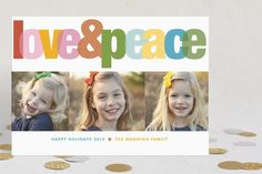Love & Peace by Platinum Daisy Designs at minted.com