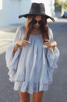 Sweet dress and elegant hat