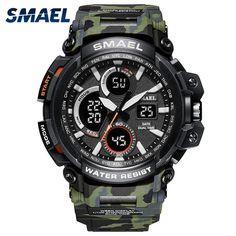 c0283ea3465 SMAEL Sport Watches 2018 Men Watch Waterproof LED Digital Watch Male Clock Relogio  Masculino erkek kol saati 1708B Men Watches