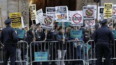 nice Masiva protesta contra Trump en Nueva York