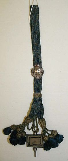 FobDate: late 18th century Culture: Italian Medium: silk, metal thread Dimensions: Length: 9 in. (22.9 cm) Credit Line: Anonymous Gift, 1924 Accession Number: 24.166.27