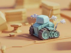Finn iso adventure animation b3d blender cute finn isometric low poly maximus render tank war