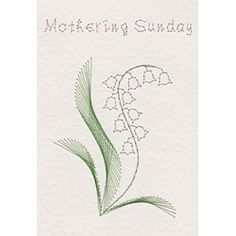 Lily of the Valley | Flowers patterns at Stitching Cards.