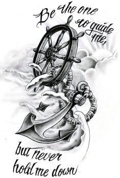 Rudder christiano anchor tattoos, wheel tattoo и anchor tatt Neue Tattoos, Body Art Tattoos, Tattoo Drawings, Sleeve Tattoos, Sketch Tattoo, Trendy Tattoos, Tattoos For Guys, Tattoos For Women, Cool Tattoos