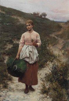 """Fine Art Connoisseur - Featured Lot: Alfred Seifert, """"Picking Flowers"""""""
