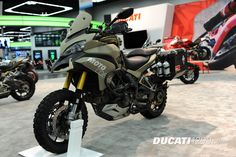 MotoCorsa Ducati TerraStrada Pictures International Motorcycle Show MotoCorsa transformed a 2011 Ducati Multistrada into this very unique Ducati. Ducati Multistrada 1200, Moto Ducati, Mens Toys, Touring Bike, Motorcycle Design, Street Bikes, Bike Life, Cars And Motorcycles, Motorbikes