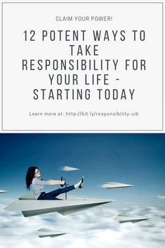 An action-packed list of effective ways to take responsibility for your life. Why it's important to take responsibility for your actions.