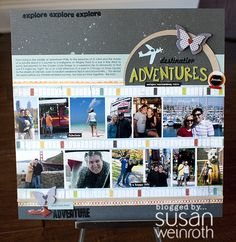 by Susan Weinroth - adventures travel scrapbook layout