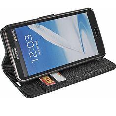 Premium Book Case for Samsung Galaxy Note 3 - Black