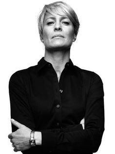 "Finley says, ""Every girls needs a classic black button-down and Claire certainly wears it well."" claire underwood house of cards - Google Search"