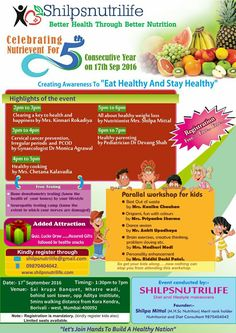 Shilpsnutrilife NutriEvent on 17th Sept at borivali-west will definitely help you stay healthy and maintain a healthy lifestyle.   If you are still in 2 minds whether to register or not.....just go ahead.....if attending all sessions are difficult,  you can definitely chose to attend one or two of your choice.   Let's join hands in creating a healthy nation Event details:- http://shilpsnutrilife.com/?page_id=4393