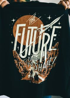 Shirt design inspired by sci-fi book covers of the 50's & 60's. Available this week only at #sevenly