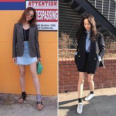 #에디터SJ의내일뭐입지 #미니스커트 는 여성미는 물론 섹시한 분위기까지 자아낼 수 아이템이죠. 여기에 #아이비(@greentee.park) #주연(@jupppal)처럼 엉덩이를 살짝 덮는 재킷을 걸친다면 차분함까지 더해져 세련된 분위기를 뽐낼 수 있답니다-editor SJ  via INSTYLE KOREA MAGAZINE OFFICIAL INSTAGRAM - Fashion Campaigns  Haute Couture  Advertising  Editorial Photography  Magazine Cover Designs  Supermodels  Runway Models