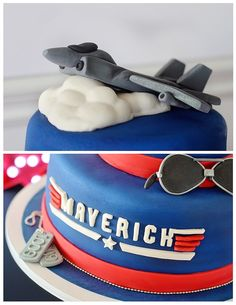 "When you name your son Maverick, you need to throw him a ""Top Gun"" party. So we did just that and had a ""Top Gun"" birthday party. Boy Birthday Parties, Birthday Celebration, 2nd Birthday, Birthday Ideas, Birthday Stuff, Birthday Nails, Celebration Cakes, Happy Birthday, Top Gun Party"