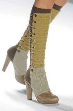 Custo Barcelona Fall 2012 - Details - seems spats are catching on this year. --- so in love with these!