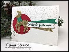 MAKE IT MONDAY Double Feature – Best Wishes Reindeer Tutorial