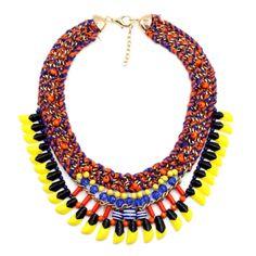 Vintage Aztec Statement Necklace