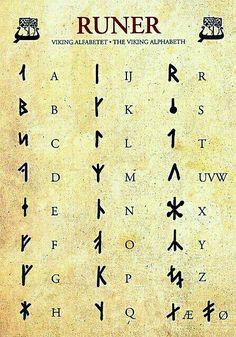 Viking Alphabet...❤