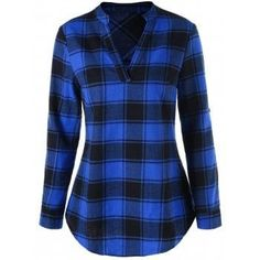 SHARE & Get it FREE | Curved Hem Plaid BlouseFor Fashion Lovers only:80,000+ Items·FREE SHIPPING Join Dresslily: Get YOUR $50 NOW!