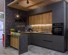 кухонный-гарнитур-2017-на-фото-1000 Smart Kitchen, Kitchen Post, Big Kitchen, Kitchen Pictures, Kitchen Plates Set, Kitchen Games, Modern Kitchen Design, Interior Design Kitchen, Apartment Interior