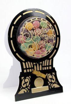 John Next Door: Sweets for The Sweet. Sue Wilson Dies, Gumball Machine, Candy Cards, Shaker Cards, Next Door, Scrapbooking Ideas, I Card, Handmade Cards, Card Ideas