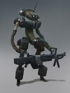 Awesome Sci-Fi Soldier Concepts by Konstantin Maystrenko (4)