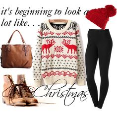 comfy holiday outfit :) ~by emmydelaine on Polyvore