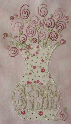 embroidery and applique..so pretty