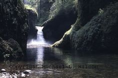 Punch Bowl Falls Oregon Waterfalls Fine art abstract, architectural and landscape photography by Michael L Wilson. Signed limited edition photos available for purchase.