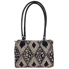 Genuine-Leather-Boho-India-Shantiniketan-Bag-Purse-Handbag-Hand-Tooled-Painted